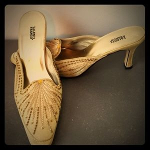 The perfect Indian style tan beaded slip on